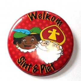 Sinterklaas button rode stip