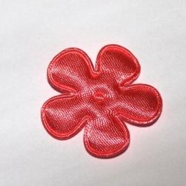 25mm satijn bloem CORAL