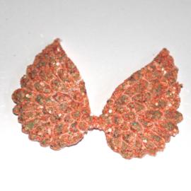 engel vleugel glitter zalm roze