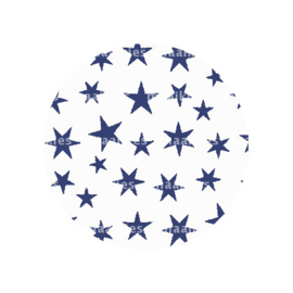 FB794 sterren  wit donkerblauw