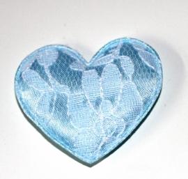 XL hart blauw (5cm)