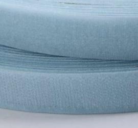 Klittenband licht blauw 20mm breed