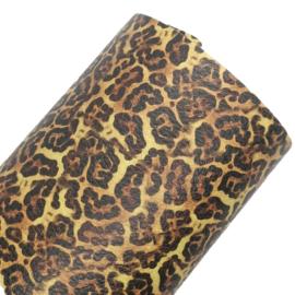 pu leer  bruin leopard