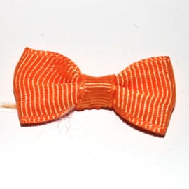 strikje grosgrain oranje 6 stuks