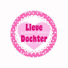 (FB829) liefste dochter roze