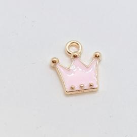 mini kroon bedel roze