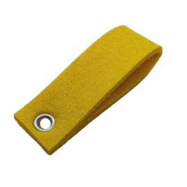 Sleutelhanger vilt dubbele rechthoek Donker geel (28)