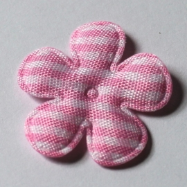 25mm ruit bloem roze 10 stuks