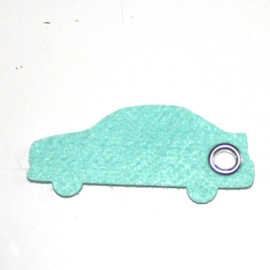 vilten sleutelhanger auto (36kleuren)