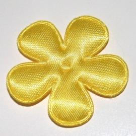 35mm gele bloem satijn