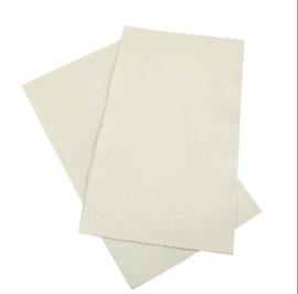 Lapje glitter wit pu leer (a4)