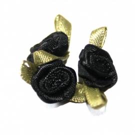 Super kwaliteit roosjes zwart
