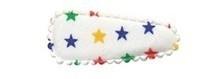 1 kniphoesje gekleurde  sterren 35mm