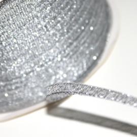 3m effen satijn lint zilver metallic