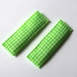 Kniphoesje groen ruit 1 stuks
