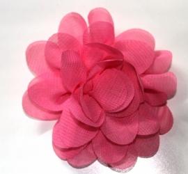 Chiffon bloem framboos 7cm