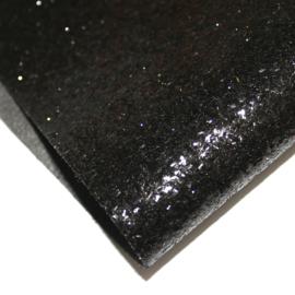 grove glitter pu leer zwart (22x32cm)