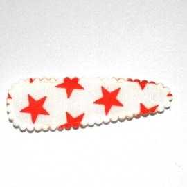 Kniphoesjes  wit oranje ster (5cm)