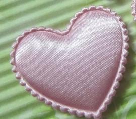 Satijn hart roze