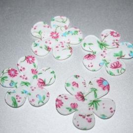 35mm Stoffen gebloemde bloem