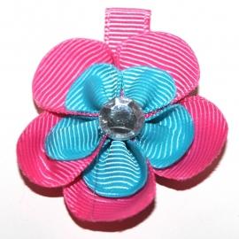 Lokspeldje bloem felroze felblauw