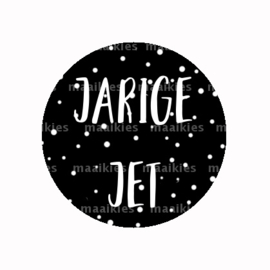 (FB800) jarige jet ZWART