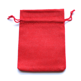 Linnen zakje rood (10x14cm)