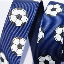 Voetbal lint 22mm navy p/m