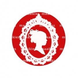 (FB340) effen rood sjiek
