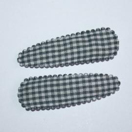 kniphoesje grijs gingham ruit(5cm)