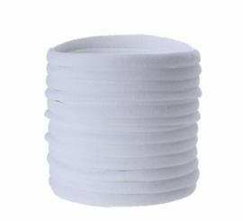 Super soft dunne nylon haarbandje wit