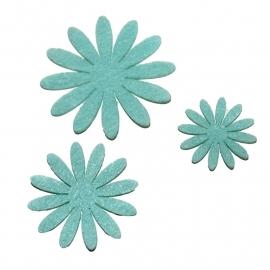 Vilten bloementje  mint (kies maat)