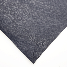 Lapje imitatieleer struktuur navy nachtblauw 30x20cm