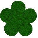 Acryl vilt donker groen 45cm bij 30cm