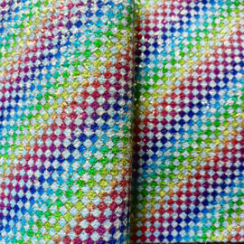 Chunky blokjes regenboog lapje