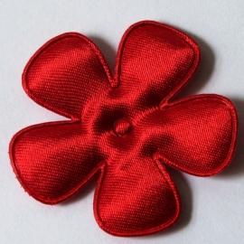 47mm rood satijn bloem
