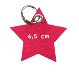 vilten sleutelhanger  ster ( 31 kleuren)