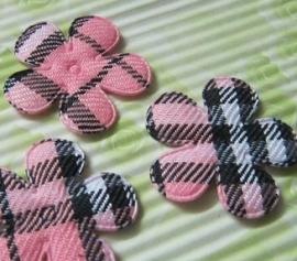 Bloem schotse ruit roze 25mm