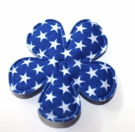 35mm sterrenprint bloem royal blauw