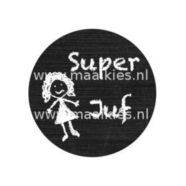 (FB941) Super juf  krijtbord