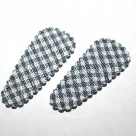 1 kniphoesje grijs geruit (3,5cm)