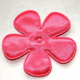 65mm satijn bloem neon roze