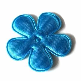 35mm neon satijn bloem Blauw