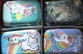 tinnen doosjes unicorn