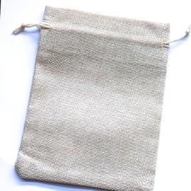 Linnen zakje beige (13x18cm)