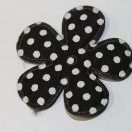 35mm polkadot bloem zwart