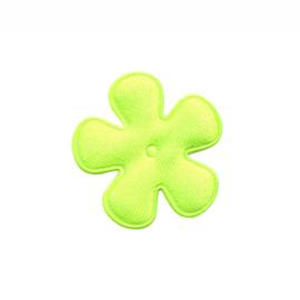 satijn bloem neon geel / groen