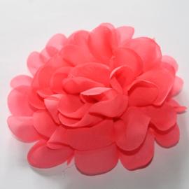 12 cm chiffon bloem neonroze