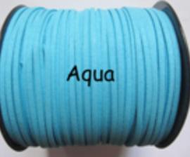 Suède veter aqua blauw