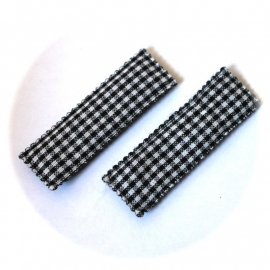 Kniphoesjes zwart ruit  1 stuks